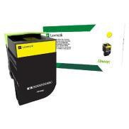 Lexmark 708HY 黃色高容量碳粉盒