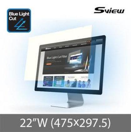 "S-View SBFAG-22W 22""(16:10) 抗藍光濾片(475x297.5mm)"