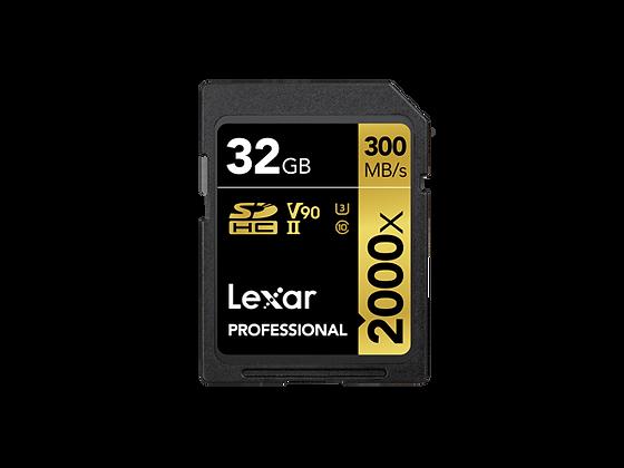 Lexar® Professional 2000x SDHC™/SDXC™ UHS-II 記憶卡