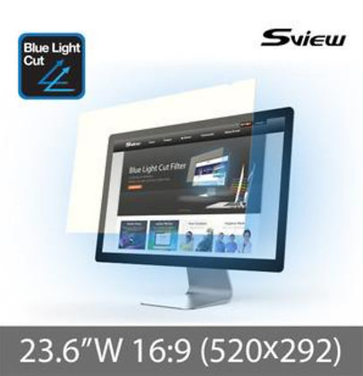 "S-View SBFAG-23.6W 23.6""(16:9) 抗藍光濾片(520x292mm)"