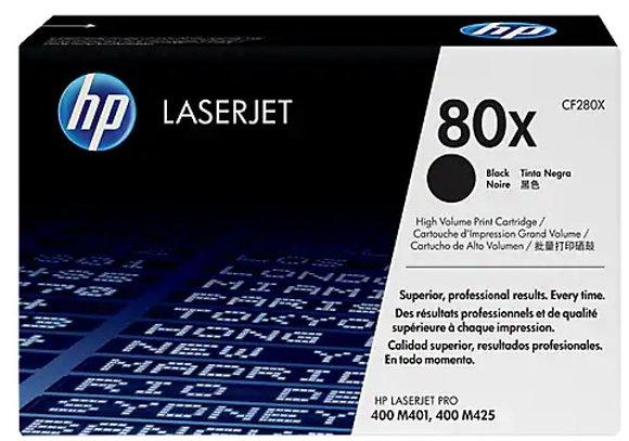 HP 80X 高容量黑色原廠 LaserJet 碳粉盒 (CF280X)