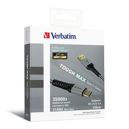 Verbatim Tough Max Type C 充電傳輸線