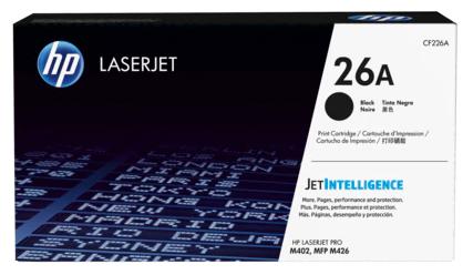 HP 26A 黑色原廠 LaserJet 碳粉盒 (CF226A)