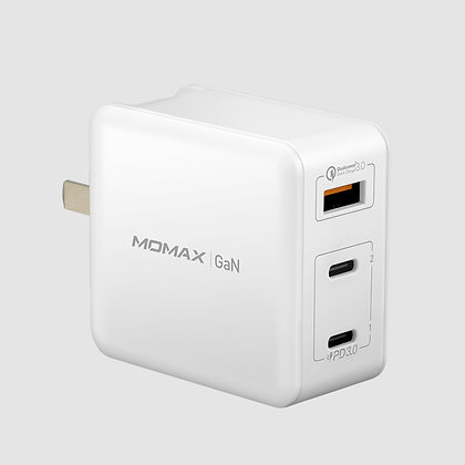 Momax ONE Plug GaN 65W 三輸出快速充電器 (UM21)