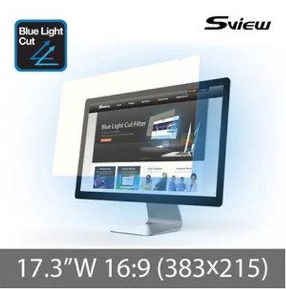 "S-View SBFAG-17.3W9 17.3""(16:9) 抗藍光濾片(383x215mm)"