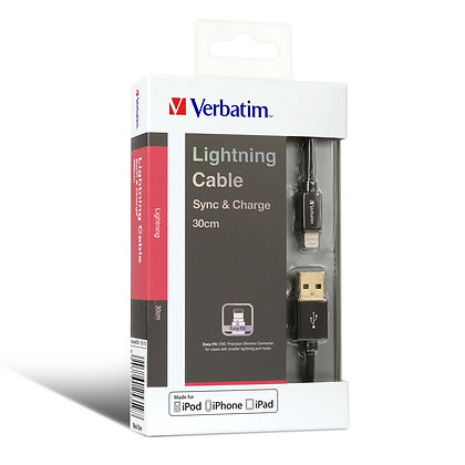 Verbatim Sync & Charge Step-up Lightning 充電傳輸線