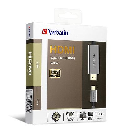 Verbatim Type C 3.1 to HDMI 4K傳輸線