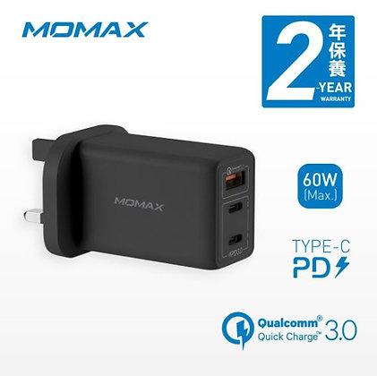 Momax One Plug 3-USB 智能GaN快速充電器 (UM20)
