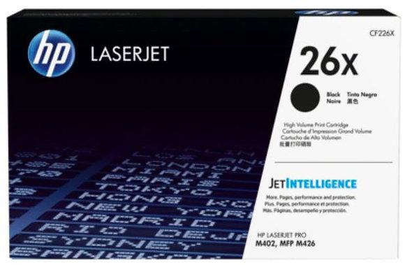 HP 26X 高打印量黑色原廠 LaserJet 碳粉盒 (CF226X)