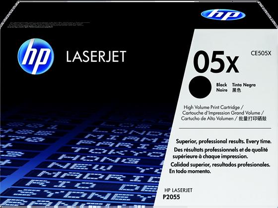 HP 05X 高容量黑色原廠 LaserJet 碳粉盒 (CE505X)