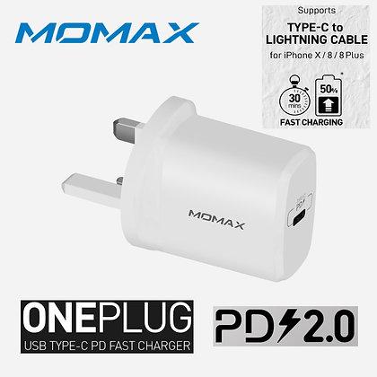 Momax ONE Plug USB Type-C PD 快速充電器