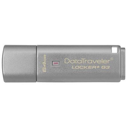 Kingston 64GB DataTraveler Locker+ G3 USB Flash Drive