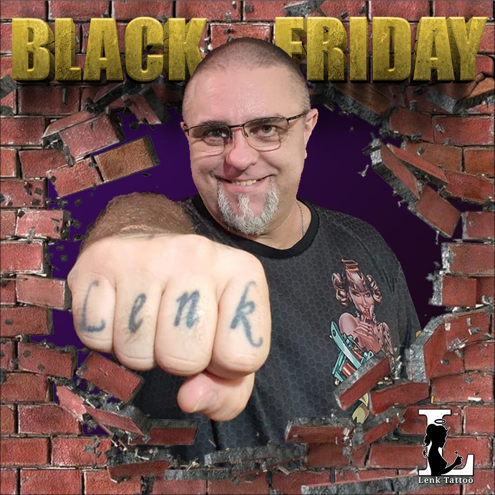 Black Friday 2020 - Lenk quebrando pared