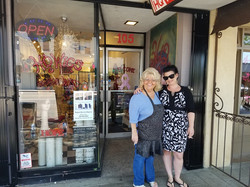 Cathy and Crystal at HQ Wigs