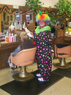 Cathy Clowning Around