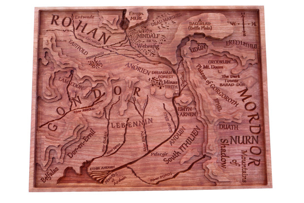 Middle-earth Topography Map
