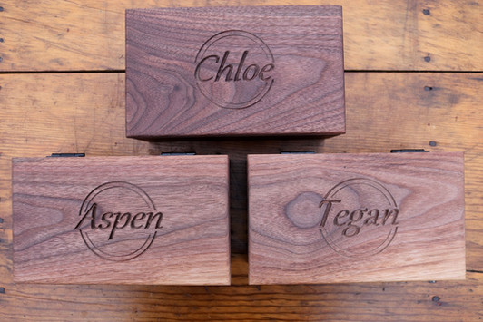 Walnut Jewelry Boxes