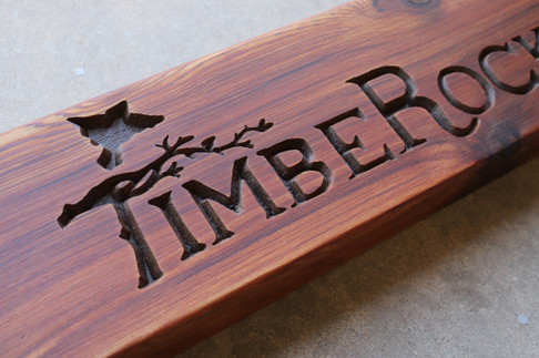 TimberRock Ranch Sign