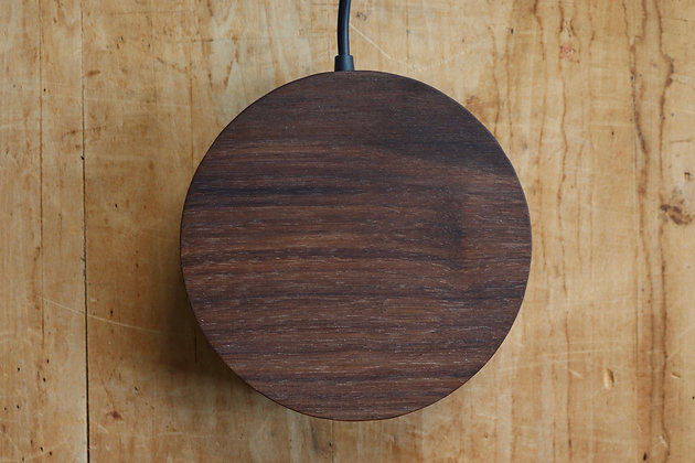 Hand-carved Walnut Wireless Phone Charger