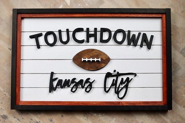 Kansas City Football Sign