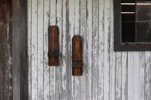 Rustic Barnwood Shelving Set