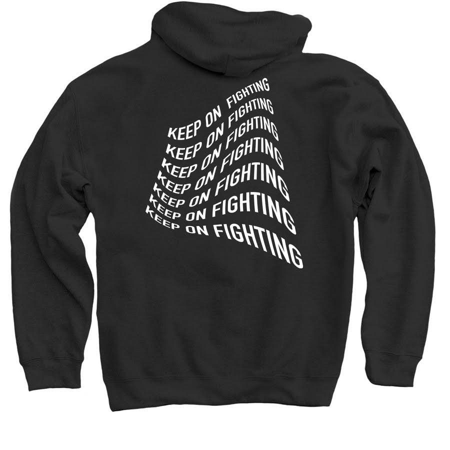 keep on fighting hoodie back.jpeg