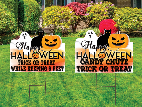 """Halloween Yard Sign 22""""by 18"""""""