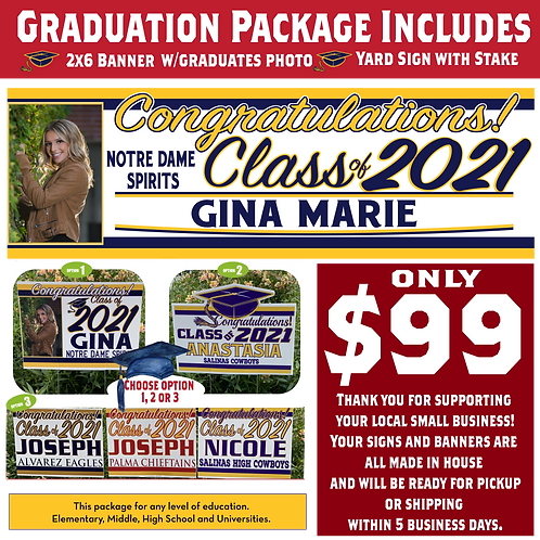 Graduate Package of Banner and Sign