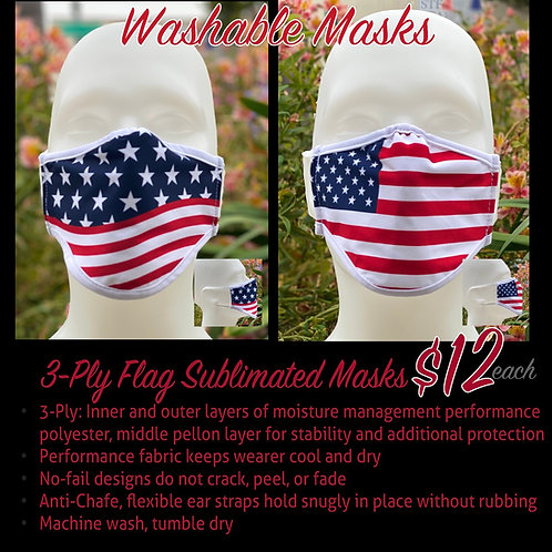 Breathable Polyester Flag Mask