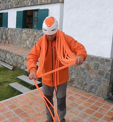 Plegado de cuerda de escalada