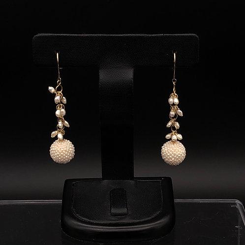 Exceed Ball Dangling Akoya Earrings