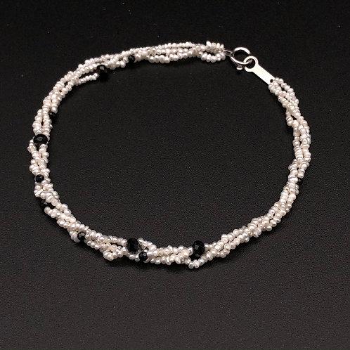 Keshi pearl and Spinel Bead Interspersed Bracelet