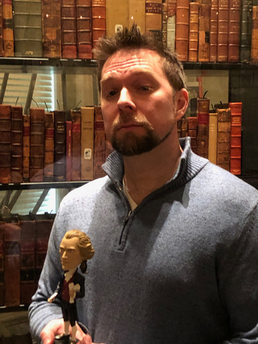 Jefferson's bobblehead reunited with his books in the Library of Congress
