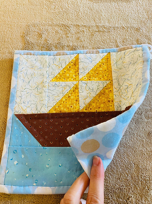 Sailboat Potholder
