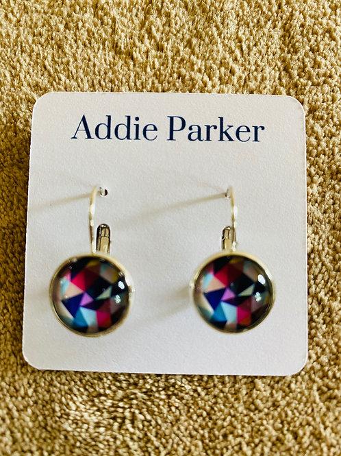 Colored Kaleidoscope Earrings