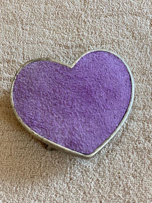 Suede Purple Heart Belt Buckle