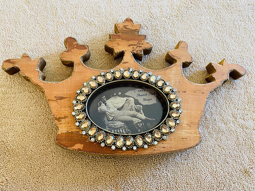 Crown Wooden Photo Frame