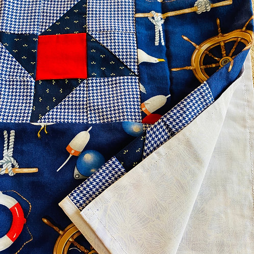 Blue Nautical Table Runner