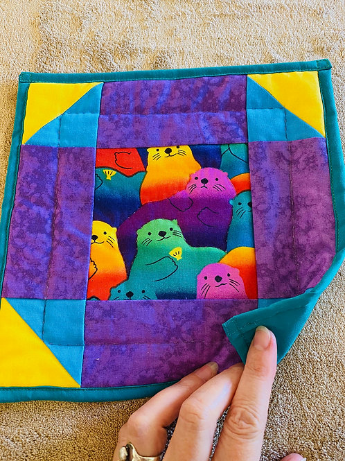 Colored Seals Potholder