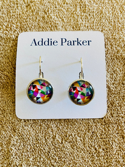 Colored Kaleidoscope Earrings