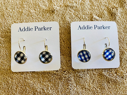 Plaid Pattern Earrings