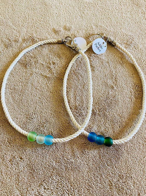 Sea Glass Rope Necklace