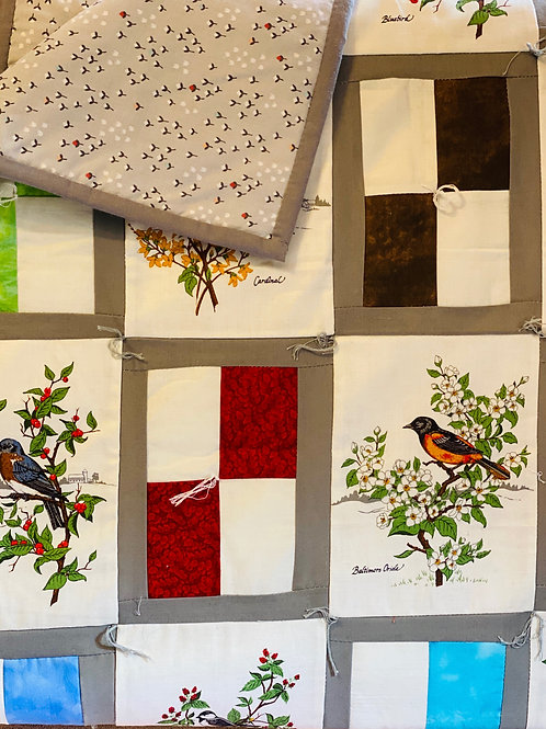American Songbirds Lap Quilt