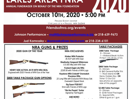 Lakes Area Friends of NRA - October 10 - Frazee Event Center