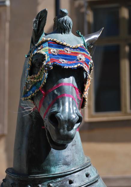 """""""Konstantinopelhäst II"""" på Blasieholmstorg"""