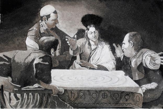 'Bruno's Ash Wednesday Supper, 1584', 2013, 76 x 111 cm