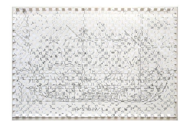 David Redfern (b. 1947) 'On the Histroy of Species', 2018, 70 x 100 cm