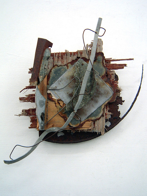 'Battleship Weather', 2001, 45 x 45  x 10 cm, found object assemblage