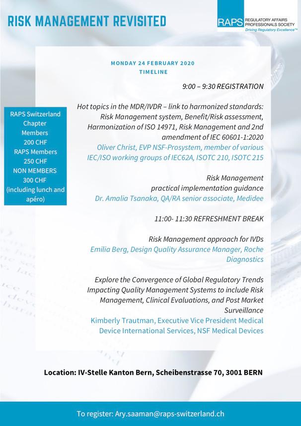 2) RAPS-CH - Risk Management Revisited -