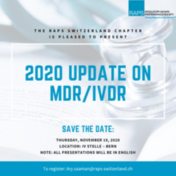 MDR- IVDR Update 2020 - SaveTheDate - Fl